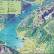 Mapa k 1. túře: Lanovkou z Maurachu na Erfurter Hütte. Pak Adlerhorst a z něj k chatě Dalfazalm a dolů k jezeru.