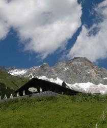 Wangalm, horská chata ležící v nadmořské výšce 1753 metrů. Je vstupní branou pro vysokohorskou turistiku.